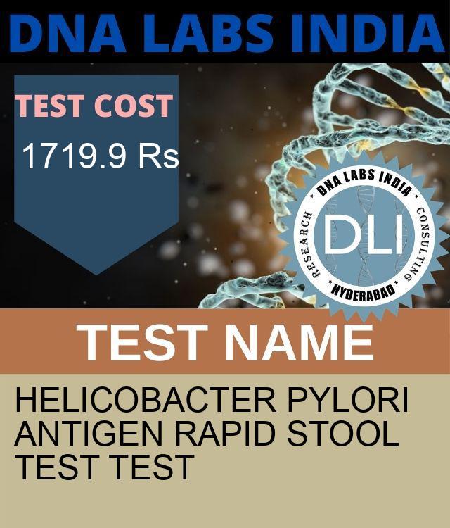 HELICOBACTER PYLORI ANTIGEN RAPID STOOL TEST Test