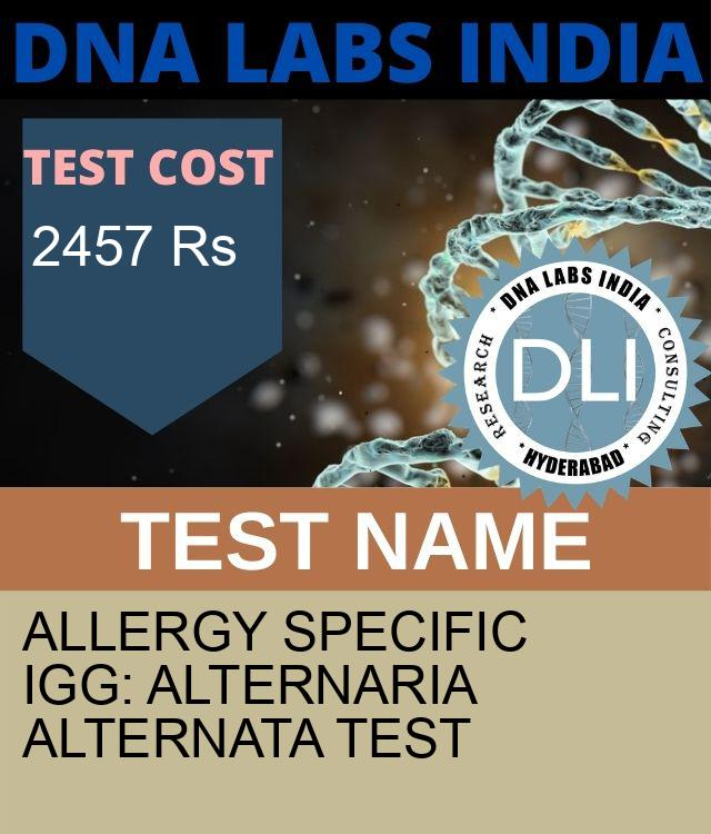 ALLERGY SPECIFIC IgG: ALTERNARIA ALTERNATA Test