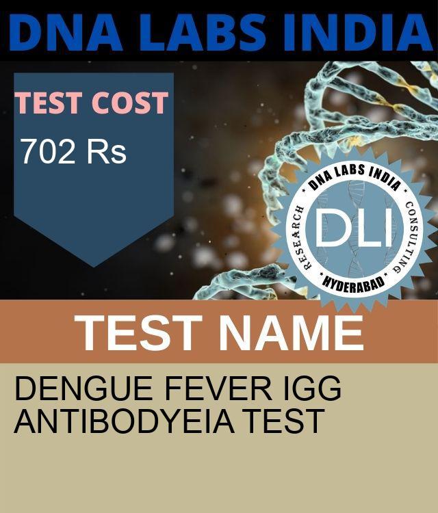 DENGUE FEVER IgG ANTIBODYEIA Test